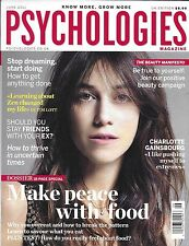 Psychologies Magazine Charlotte Gainsbourg Emotional Eating The Beauty Manifesto
