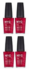 LOT OF 4 - NEW YORK COLOR IN A NEW YORK COLOR MINUTE NAIL POLISH MADISON AVENUE