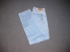 "Chaps Men's Regular Fit 5 Pocket Blue Jeans 33"" Waist 32"" Inseam 12"" Rise"