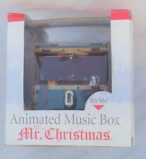 Mr. Christmas 2003 Animated Music Box We Wish You A Merry Christmas Nib
