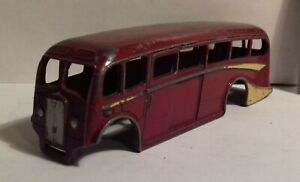 1950s Dinky Toys 29g or 281 Luxury Coach bus BODY ONLY, no base