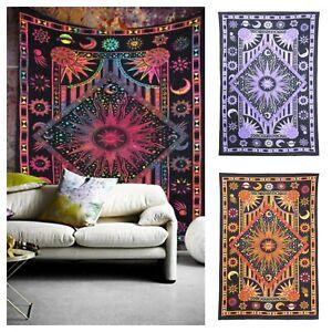 Large Tapestry Wall Hanging Zodiac Horoscope Cotton Astrology Art Dorm TIE-DYE