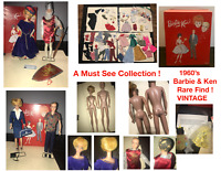 Huge Vintage Lot 1960s Barbie & Ken Dolls, Case, Clothes From Japan A must See