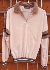 Vtg PETER B Long Sleeve Shirt-Off White-Collar-Med-Fuzzy-Sportswear-Hippy-Collar