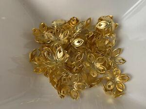 50 filigrane Perlkappen Perlenkappen 18 XXL mm gold Spacer Schmuck basteln 133