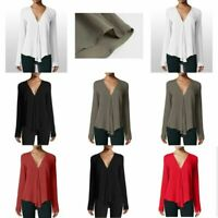 Short Sleeve Blouse Top Casual Pullover Elegant Loose Solid Jumper New Womens