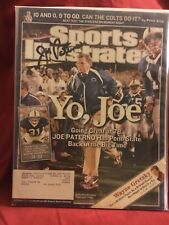 JOE PATERNO SIGNED 2005 SPORTS ILLUSTRATED/ PENN STATE, 2 TITLES/ DIED 2012