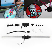 DIY Programmable Bike Bicycle Wheel 64-LED Light Full COLORS Spoke Ship from US