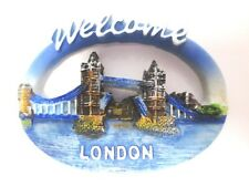 Londra magnetico Welcome Tower Bridge Poly souvenir Great Britain, NUOVO