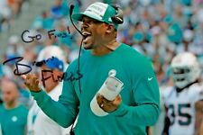 More details for brian flores signed 6x4 photo miami dolphins american football nfl autograph coa
