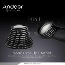 Andoer 58mm Macro Close-Up Filter Set+1+2+4+10 Pouch for Nikon Canon Rebel DSLRs