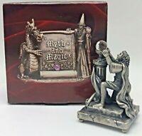 Myth and Magic Tudor Mint Pewter Fantasy Figurine Sir Percival & The Grail 3206
