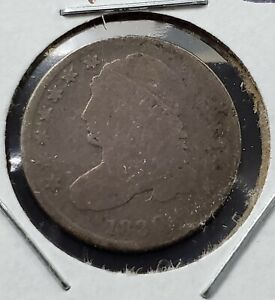 1830 Capped Bust Head Dime Coin AG / Good Circulated