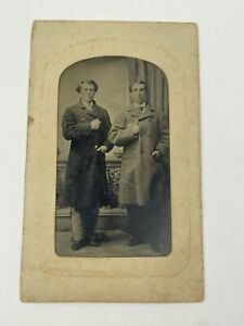 Antique Tintype of 2 Civil War Confederate Soldiers Cavalry & Infantry Soldiers