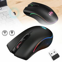 2.4GHz Wireless Gaming Mouse 1600DPI 7 LED RGB Color G06 Wireless Ergonomic Mice