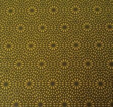 Shaman BTY Parson Gray FreeSpirit Visionary Geometric Print Gold Brown
