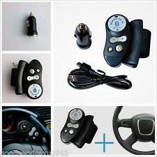 Car SUV Steering Wheel Bluetooth Hands Free Receiver & Charger adapter Cable Kit