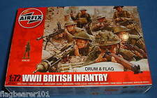 AIRFIX 01763. WW2 BRITISH INFANTRY.  1/72 SCALE UNPAINTED PLASTIC FIGURES