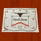 Ranch House Lot Restaurant Paper Placemat + Matchbook 1970s Miami Ft Lauderdale