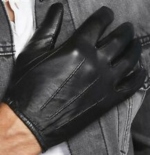 Men Police Search Driving Gloves Great Dexterity Strong Grip Thin Leather Fit