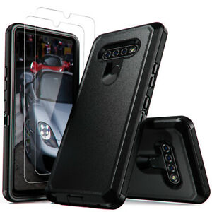 For LG K51/Stylo 6 Phone Case Shockproof Armor Cover With Glass Screen Protector