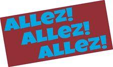 Aston Villa  ALLEZ ALLEZ ALLEZ vinyl sticker Claret and Blue Premier League 2019