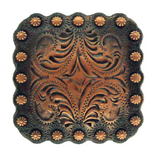 "Western Lodge Cabin Kitchen Decor 1 1/2"" Copper Horseshoe Concho Drawer Pulls 6"