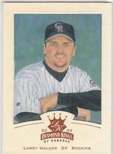 LARRY WALKER 2002 Diamond Kings BRONZE FOIL card Colorado Rockies NR MT