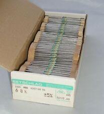 68K BEYSCHLAG RESISTORS 1/4W  Metal Film .. BOX of 1000