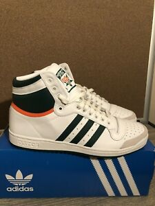 Adidas Original Top Ten Hi Mens Basketball Shoes White Green Orange EF2516 Sz 11