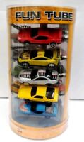 YAT MING ROAD TOUGH FUN TUBE DIECAST METAL - 15 DIECAST VEHICLES - BRAND NEW