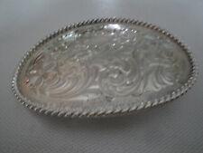 Vintage Montana Silversmith Belt Buckle Nice Swirl Design