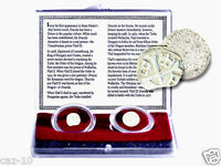 The Real Life DRACULA: A Collection of 2 Silver Coins In New Clear Display Box