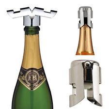 Stainless Steel Champagne Stopper Sparkling Wine Bottle Plug Sealer Convenient