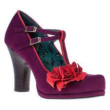 Ruby Shoo Uma Shoes Sz 3 - 8 Purple Orange T-bar Mary Jane 1940's 4 5 6 7