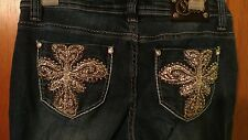 Cello Jeans Bootcut size 5 embellished stitched pockets