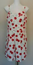 Marilyn Monroe Dresses White and Red Cherry Dress Size Large