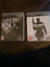 PS3 Call Of Duty 2x Bundle MW3 & Black ops 2 Console Game Gamer