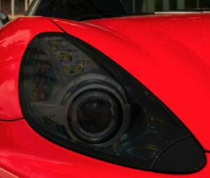 Ferrari California Smoked TINT Headlight Blackout Lens Pre Cut PPF Decal Overlay