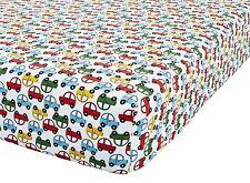DESSIN ANIMÉ CARS rouge bleu vert blanc unique 90x190+25cm Mélange de coton