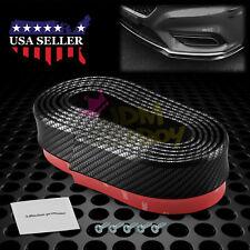 Universal Carbon Fiber Black Front Bumper Lip Splitter Chin Spoiler Body Kit