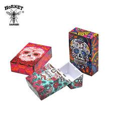 1X Tattoo SKULL Plastic Flip Open Tobacco Box Cigarette Storage Case Normal Size