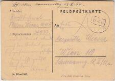 Germany WW II Feldpost Card from Russia 1942