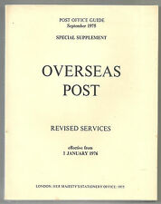 Post Office Guide September 1975 Overseas Post Special Supplement From 1976