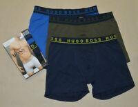 3 pack Hugo Boss Men's Blue Navy Olive boxer brief cotton stretch S M L XL  New