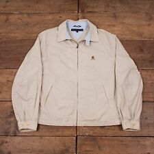 "Mens Tommy Hilfiger Vintage Preppy Cotton Harrington Jacket Stone L 44"" R3953"
