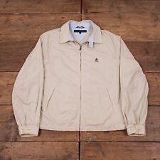 "Mens Tommy Hilfiger Vintage Preppy Cotton Harrington Jacket Stone L 44"" R3953"