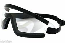 Lunettes moto BOBSTER WRAP AROUND claires