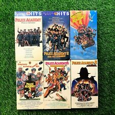 Vtg Police Academy VHS Bundle Lot Cult Classic Comedy Collection 1 2 3 4 5 6