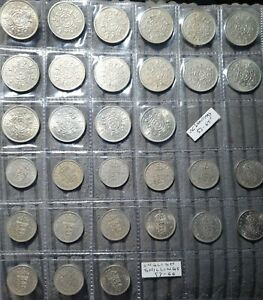 Great Britain Shillings - One And Two Shilling Sets - 31 Coins - 1953-1966/67
